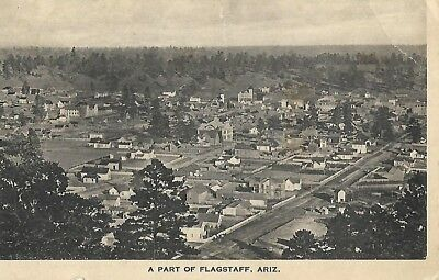 Antique Post Card Aerial View Flagstaff Arizona AZ 1912