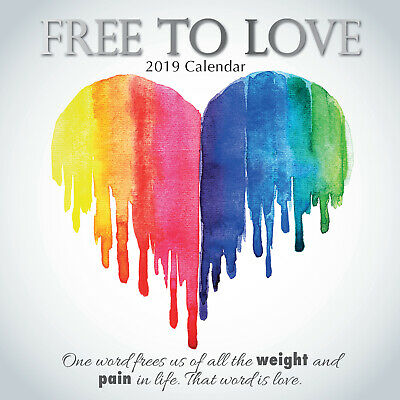Free to Love - 2019 Wall Calendar 16 month Premium Square 30x30cm (X)