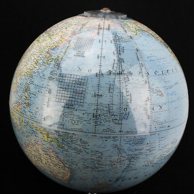 "Vintage Globe, 12"" dia. National Geographic, Acrylic base, c.1978"