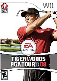 Tiger Woods PGA Tour 08 (Nintendo Wii, 2007) WII COMPLETE DISC and CASE