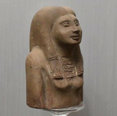 ANCIENT ANTIQUE Egyptian stone great half statue (1500–300 BC)