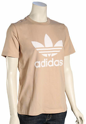 Adidas Women's Trefoil T-Shirt - Ash Pearl / White - New