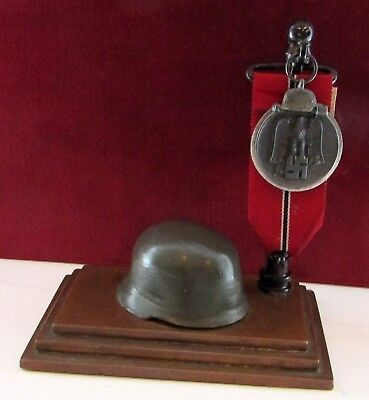 Very Nice German WW II Desk Set Medal / Watch Display Stand