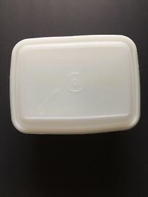 Vintage Tupperware Freeze N Save Ice Cream Keeper White 1254 1255