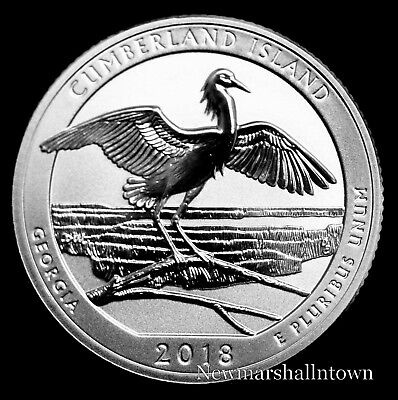 2018 S Cumberland Island Mint Reverse Silver Proof National Park from Proof Set