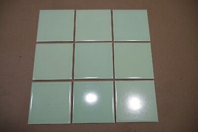 Antique Vintage ATCO Mint Green Pastel Field Tiles One Square Foot 1940's