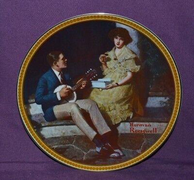 "Plate By Norman Rockwell ""pondering On The Porch"" Rockwell's Rediscover Women"