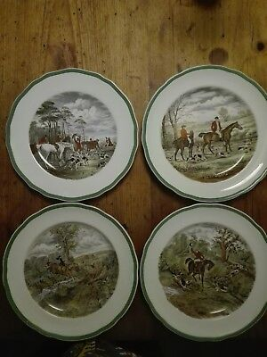 Spode plate set of four from J.F. Herring's the hunt