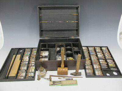 Antique Dr William Henry Chandler (1841-1906) Chemist Mineral Analysis Kit yqz