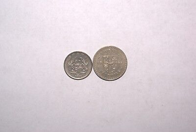 2 DIFFERENT 20 PESEWAS COINS from GHANA DATING 1967 & 2007 (2 TYPES)