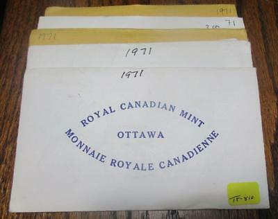 Pickers Delight Lot of 5/Five Canada 1971 6 Coin Uncirculated Mint Sets. #TF-810
