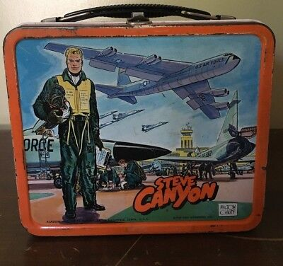 Vintage lunch box 1959 Steve Canyon with thermos