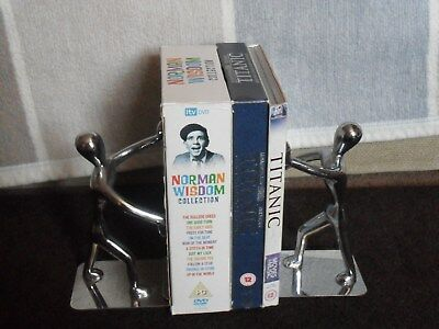 Pair Of Chrome Stick Men Bookends.