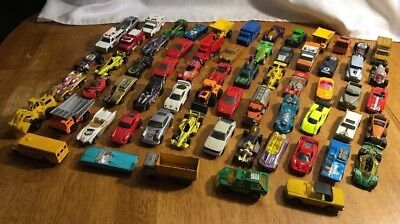 Hot Wheels Matchbox Maisto Mixed Years Huge  lot of 65 Toy cars loose Mixed Year