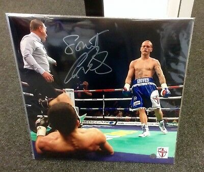 George Groves Official Boxing signed limited edition photo, only 40 worldwide