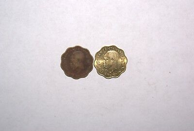 2 DIFFERENT 10 SENTI COINS w/ ZEBRAS from TANZANIA DATING 1977 & 1981 (2 TYPES)