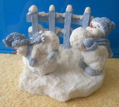 Encore Snow Buddies Snowman Figurine Snow Fun #94334D Parade Of Gifts Exclusive