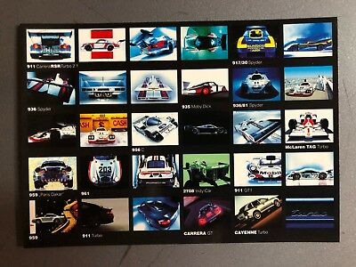 Porsche Turbo Factory issued Post Card Postcard Collector Card RARE!!