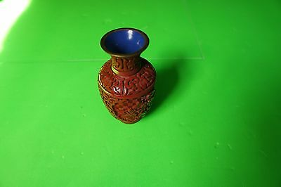 Antique Chinese Red Cinnabar Lacquer Vase  BUYER MUST COLECT SURRY HILLS NSW