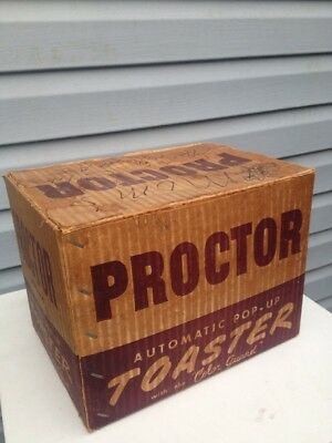 Vintage Proctor Model 1468 A Automatic Pop Up Toaster Empty Box