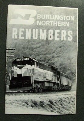 Bn Burlington Northern Re-Numbers  Brochure 1970  Sc Booklet  Rosters Photos