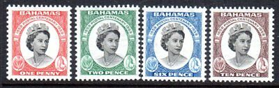 1959 BAHAMAS CENTENARY FIRST POSTAGE STAMPS SG217-220 mint very light hinged