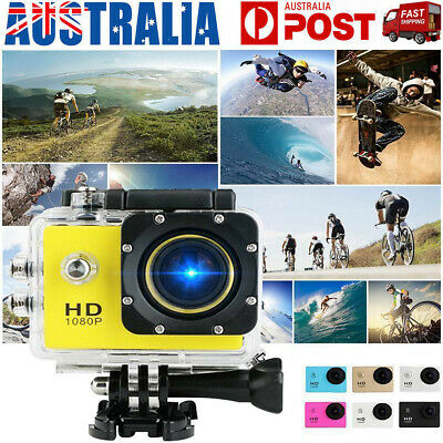 Ultra HD 1080P Waterproof Sports Action Video Camera Go Pro Fit Mount Random AU