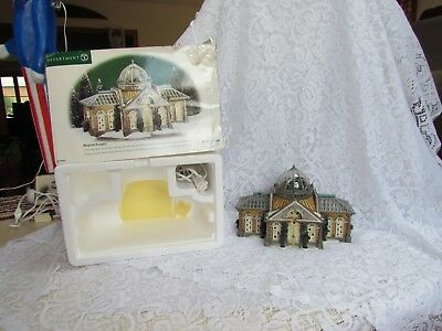 """1999 Dept. 56 Dickens Village """"Margrove Orangery"""" in OB with Issues"""