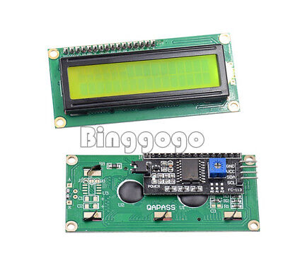 Yellow LCD I2C Modul LCD1602 16x2 Zeichen Display HD44780 Arduino Raspberry Pi