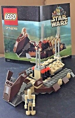 LEGO STAR WARS 7126 Battle Droid Carrier box complete