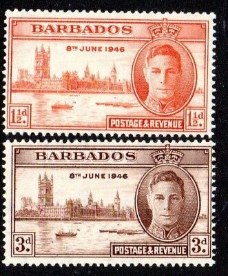 1946 BARBADOS Victory SG262-263 mint unhinged
