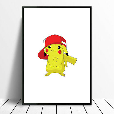 Pokemon  Poster  Collection A4 A3 Print Wall Art Pikachu Go Birthday Gift