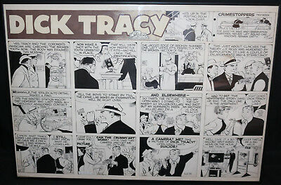 Dick Tracy Sunday Strip - 5/2/1954 Signed art by Chester Gould