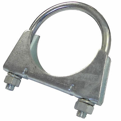Universal Exhaust U Bolt Clamp Heavy Duty Clamp with Nuts (Sizes 28mm - 102mm)