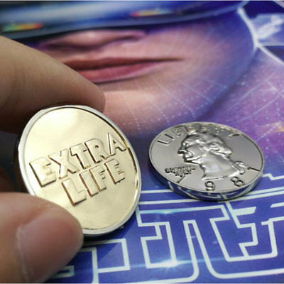 Ready Player One Extra Life Coin Quarter Cosplay Prop Commenorative Coin 2018