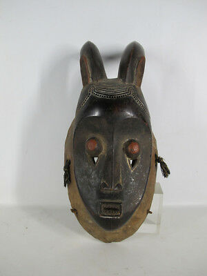 Vintage African Baule Tribe Hand Carved Wood Kpan Pre Junior Female Mask #14 yqz