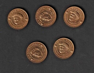 Sir Don Bradman Commemorative Medals (5). Issued By Herald Sun.