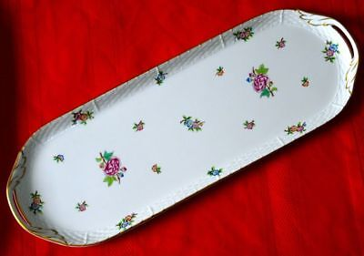 Herend Large/Long Oval Sandwich Tray Hand Painted ETON Pattern