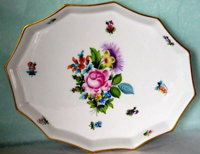 Herend SAXONIAN BOQUET Pattern Dodecagon Tray Hand Painted