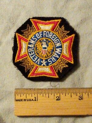 Vfw Veterans Of Foreign Wars Black Patch ( 2 3/8 Inches Round)