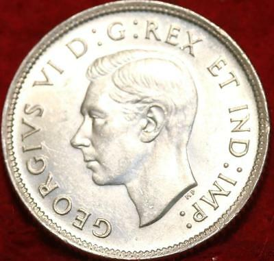 Uncirculated 1937 Canada 25 Cents Silver Foreign Coin