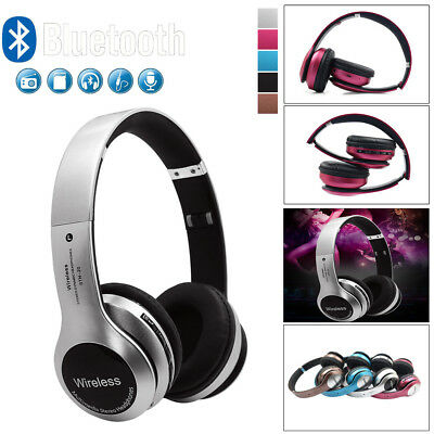Wireless Headphones BT 4.1 Headset Noise Cancelling Over Ear With Microphone