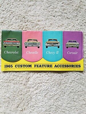 Original 1965 CHEVROLET CUSTOM FEATURE ACCESSORIES Brochure -  Chevelle, Corvair