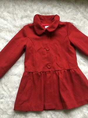 Girls Red size 7 Origami Jacket / Coat  Wool Blend Fully lined Excellent conditi