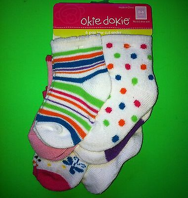 NEW! Baby Girls Fashion Socks 3T 4T 5T Shoe Size 6 7 8 9 10 10.5 Gift! 6 Pairs