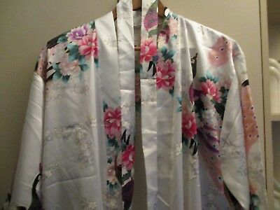 Vintage Pretty Vietnamese Peacock  Dressing Gown  Excellent Condition