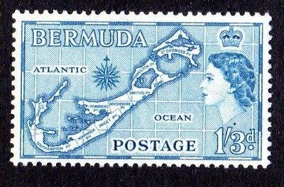 1953-62 BERMUDA 1/3d map die I lighter shade SG145a mint unhinged