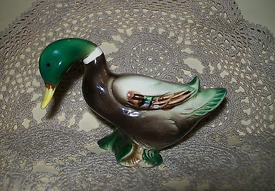 VINTAGE c.1950s CERAMIC KITSCH DUCK PEPPER or SALT SHAKER 7cm