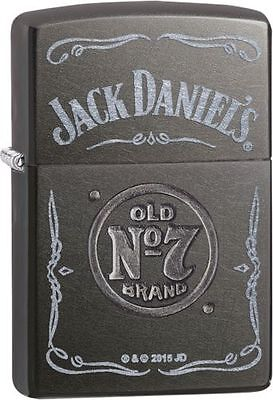 "Zippo ""Jack Daniel's Old No. 7"" Gray Dusk Finish Lighter, Full Size,  29150"