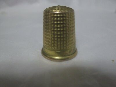 Victorian 9kt Gold Charles Horner Thimble 375 9kt solid gold beautiful
